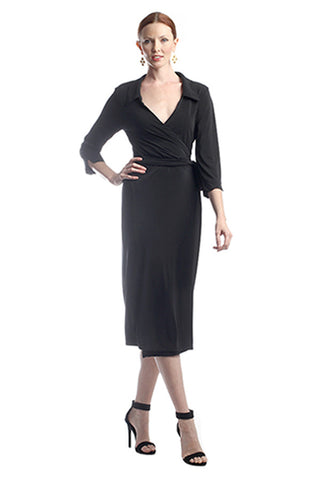 Black Shirt Wrap Dress (plus available)