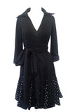 PEEK-A-BOO POLKA DOT DRESS (PLUS SIZES ALSO AVAILABLE)