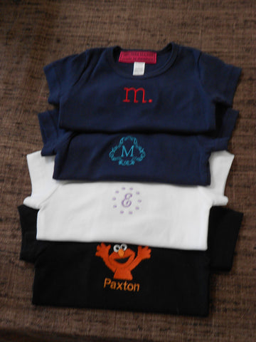 Custom made Character and Personalized  Toddler T-Shirts