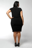 Knot Shoulder Dress (Missy and Plus Sizes Available)