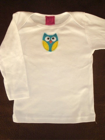 Baby Top with Owl Appliqué
