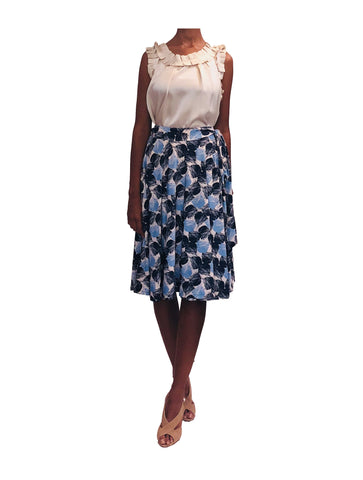 Printed jersey wrap skirt