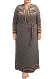 Tile print Maxi Caftan Dress