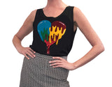 Women's Tank Bleeding Heart Black