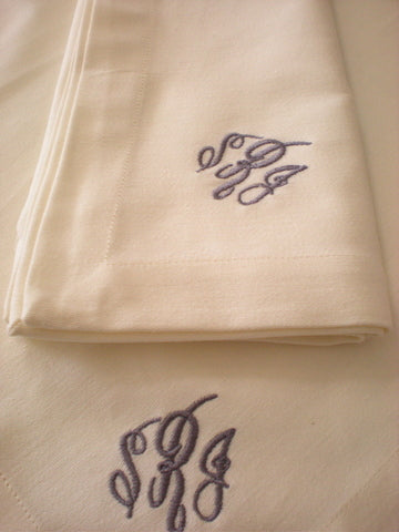 Masse Monogram Cloth Napkins