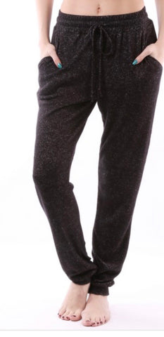 Lounge pants with elastic drawstring pants with elastic at ankles