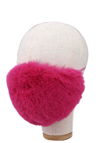 Faux fur face mask fully lined