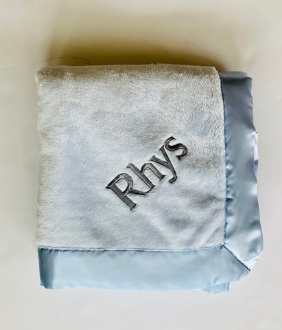 Personalized Plush Blanket (Multiple Colors Available)