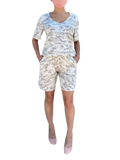 Sage camouflage jersey easy shorts