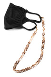 Brown tortoise chain mask holder- never lose your mask again!!!!