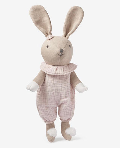 Sweater knit bunny doll with blush bloomers