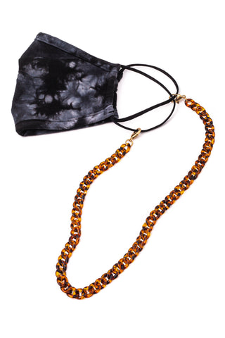 Brown tortoise chain mask holder- never loose your mask again!!!!