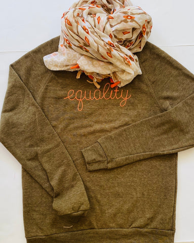 Equality Eco Fleece Unisex Olive Sweatshirt *also available in black