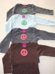 Baby Top with Peace Sign Appliqué