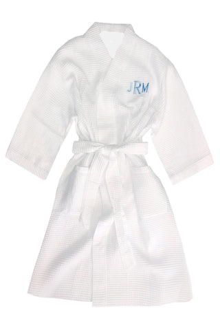 Monogram Unisex Robe in plush or waffle