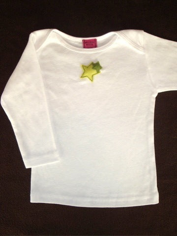 Baby Top with Stars Appliqué
