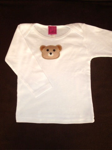Baby Top with Bear Appliqué