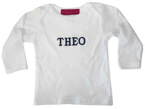 Baby Long Sleeve T-Shirt with personalized embroidery