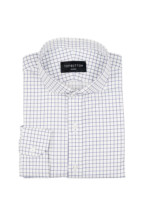 Table Check – Blue - Top Button Custom Shirts Melbourne