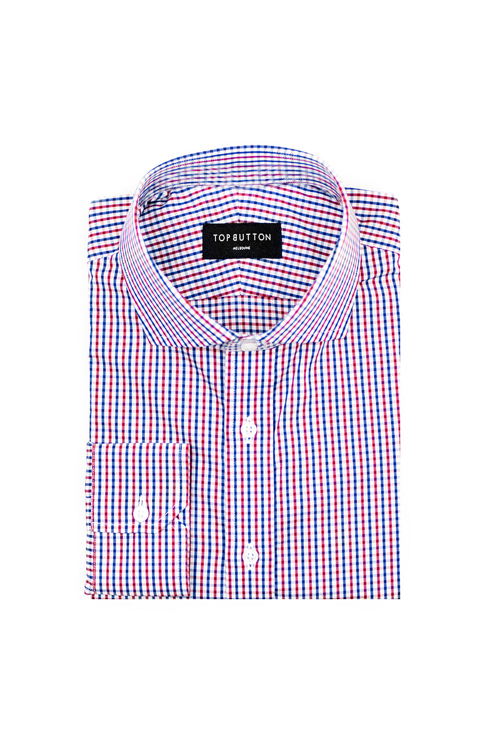 Freshman – Red & Blue - Top Button Custom Shirts Melbourne