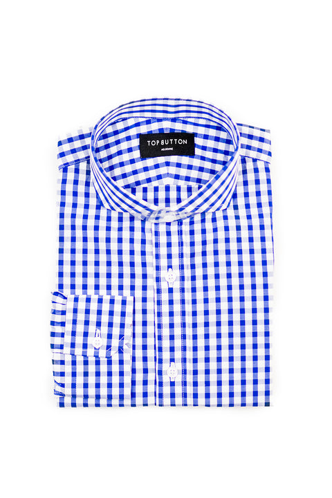Tebru – Blue - Top Button Custom Shirts Melbourne