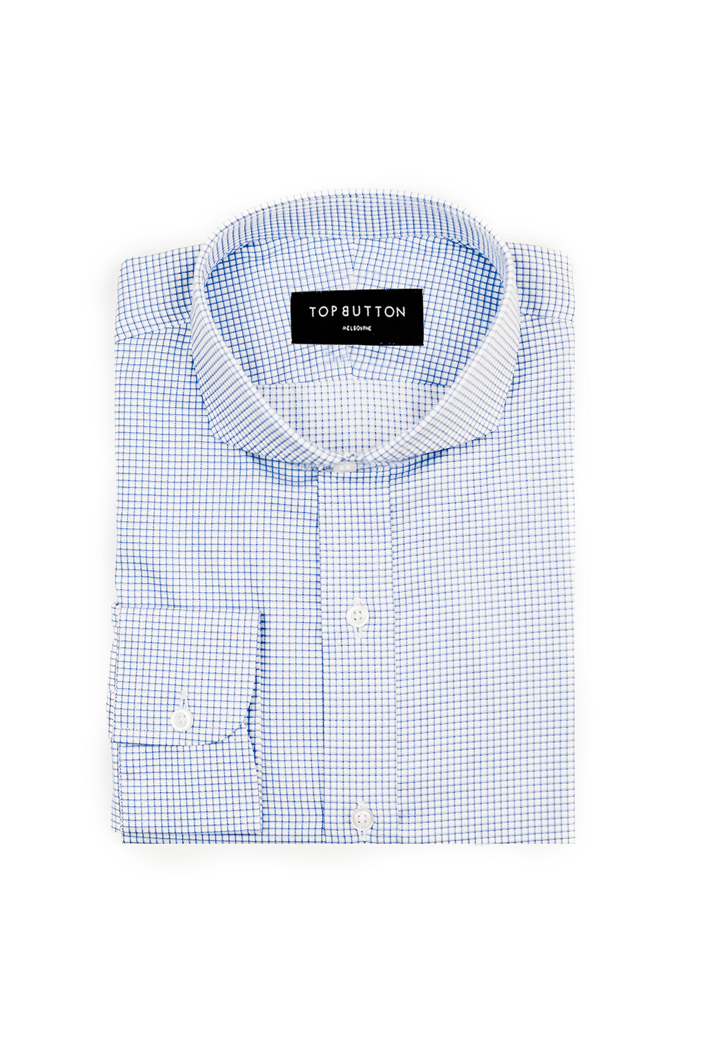 Mini Window – Blue - Top Button Custom Shirts Melbourne