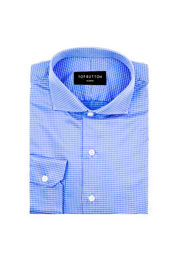 Hori – Blue - Top Button Custom Shirts Melbourne