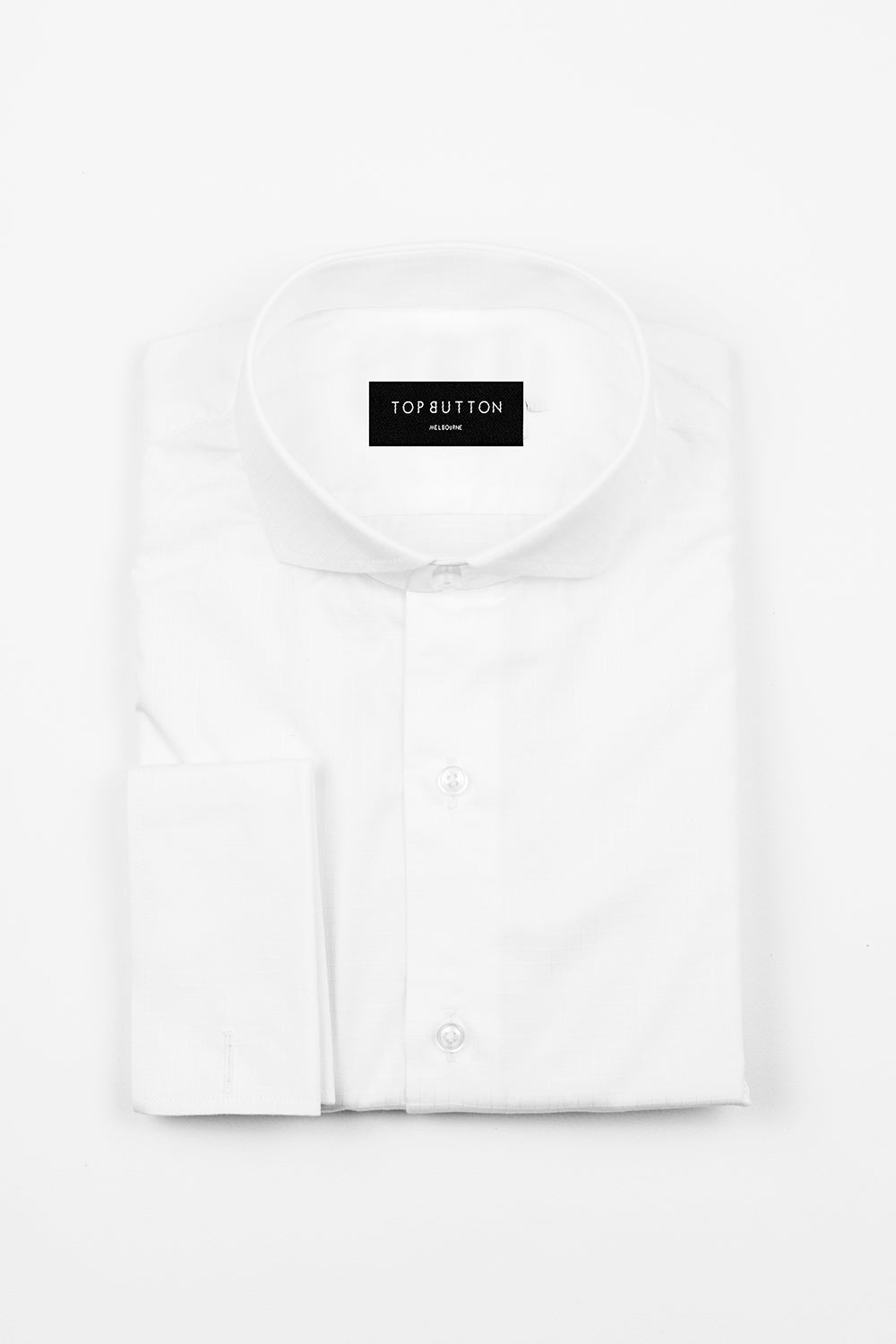 Checkmate – White - Top Button Custom Shirts Melbourne