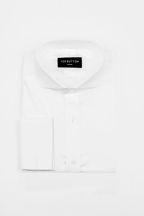 Poplin – White - Top Button Custom Shirts Melbourne