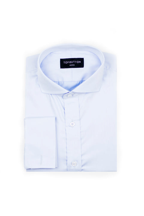 Staple – Blue - Top Button Custom Shirts Melbourne