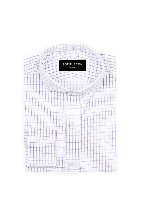Sophomore – Blue & Purple - Top Button Custom Shirts Melbourne