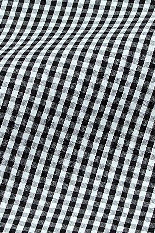 Gingham – Black - Top Button Custom Shirts Melbourne