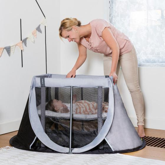 Instant Travel Cot - 'Grey Rock'