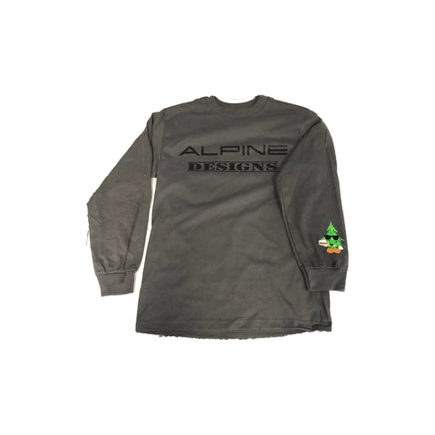 ALPINE DESIGNS LONG SLEEVE W/ TRINKET ON THE SLEEVE (GREY & BLACK)