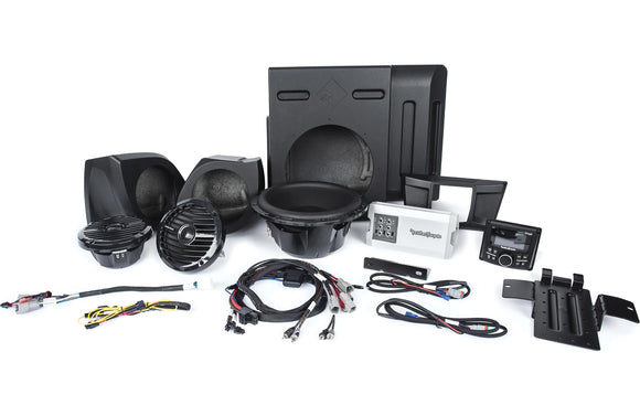 Rockford Fosgate Satge 3 400 Watt Amplified Stereo, Front Speaker and Subwoofer Kit for select YXZ® models