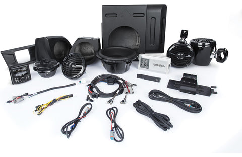 Rockford Fosgate Stage 4 400 Watt Amplified Stereo, Front Lower Speaker, Subwoofer, and Rear Speaker Kit for select YXZ®