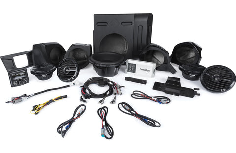 Rockford Fosgate Stage 5 400 Watt Amplified Stereo, Front Upper & Lower Speaker, and Subwoofer Kit for select YXZ® models