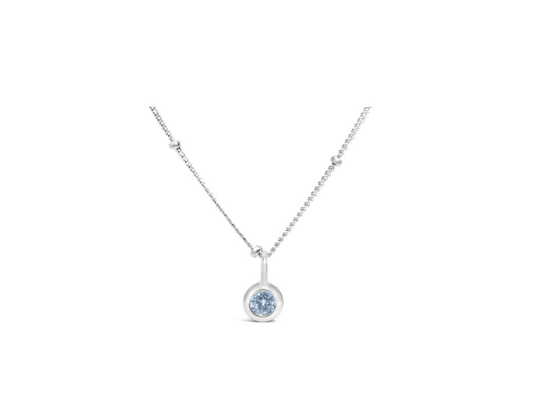 Stia Jewelry: Clear Quartz CZ Birthstone Necklace