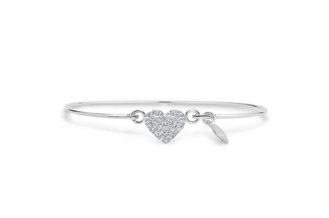 Stia Jewerly: Pavé Icon Bracelet Heart Sterling Silver