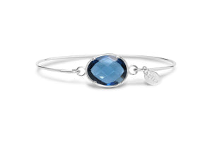 Stia Jewelry: Freeform Prong Bracelet London Blue