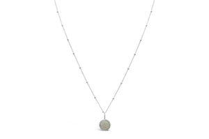 Stia Jewelry: Druzy Sparkle Opal Mini Necklace