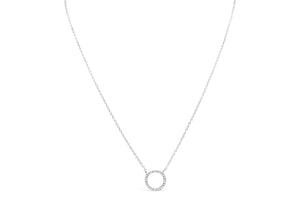 Stia Jewelry: Icon Necklace Pavé Circle