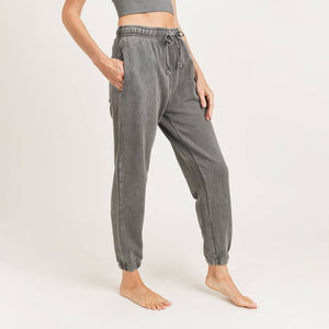 Mono B - Mineral-Washed Billow Cuffed Joggers