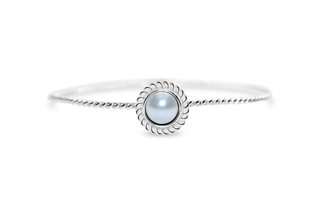 Stia Jewelry: Power of Attraction Bracelet Rope Bezel White Pearl