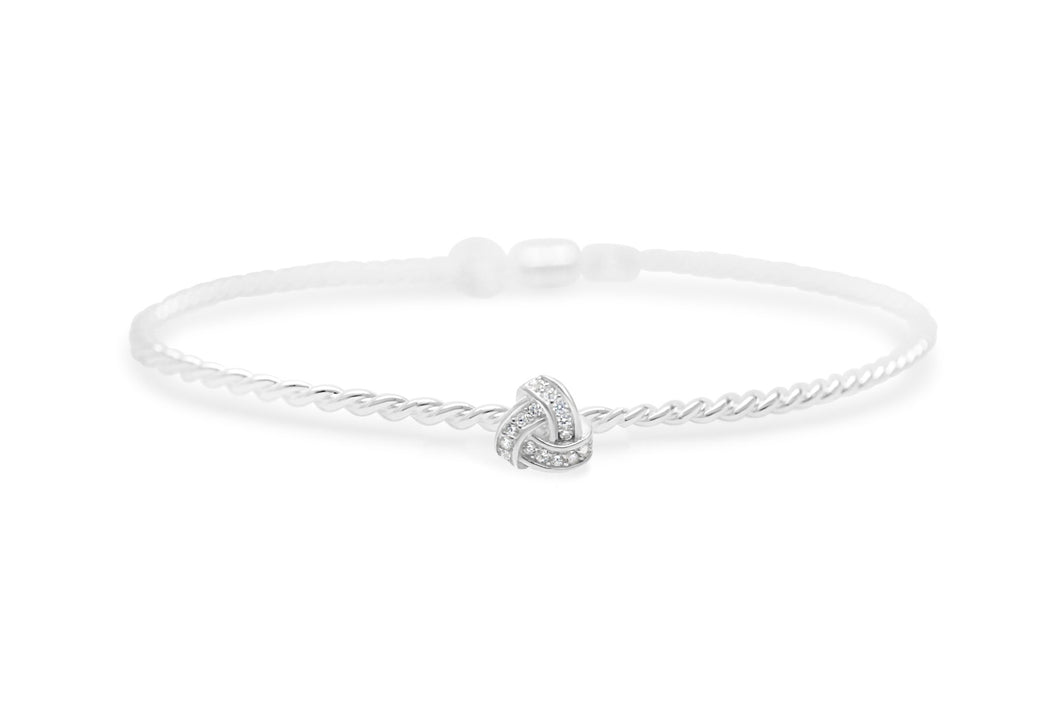 Stia Jewelry: Power of Attraction Bracelet Pavé Love Knot