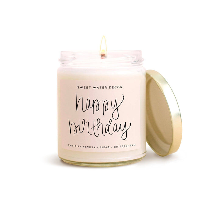 Sweet Water Decor - Happy Birthday Soy Candle