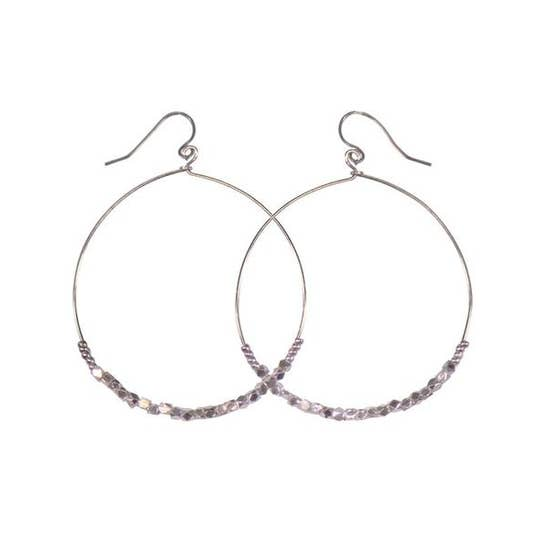 PURPOSE Jewelry - Shimmer Silver Hoop