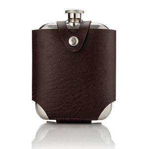 Viski - Admiral™ Stainless SteelFlask and Traveling Case by Viski