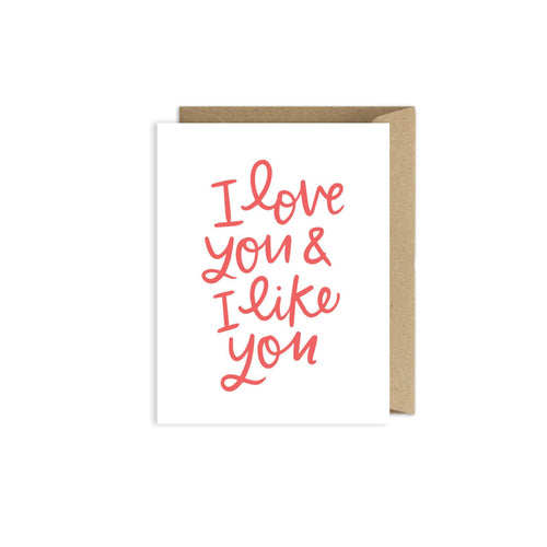 Alexa Zurcher - I Love You and I Like You Card