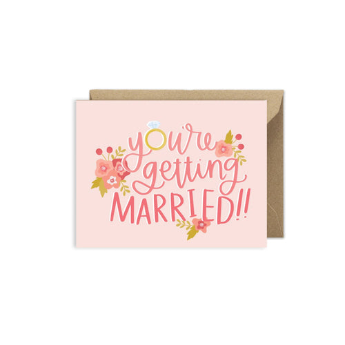 Alexa Zurcher - You're Getting Married Wedding Card